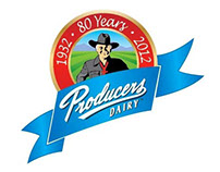 Producers Dairy 80 Years Anniversary Logo Concept