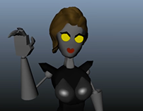 Femme Fatale (Maya modeling, Rigging and Animating)