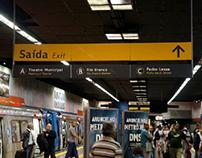 Sinalização do Metro Rio