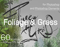 Foliage & Grass • 60 brushes for Photoshop