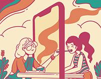 Illustration for CMR University calendar 2020