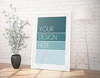 10 Contemporary interior posters MockUPs
