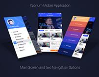 Xporium Mobile Application Design