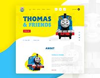 Thomas & friends UI design concept.