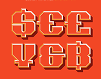 Locker Numerals Layered Font