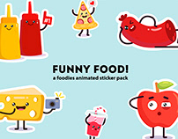 Funny food stickers