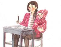 Adolescentes en acuarela/ Watercolor teenagers
