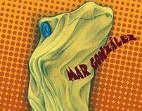 Calcetirraptor, book cover illustration