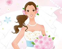 Illustration for wedding, marriage ceremony