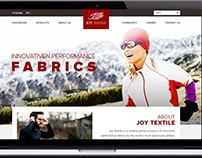 Web Page design for leading sportswear manufacturer