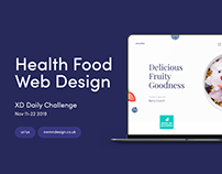 XD Daily Challenge - Day 6 Health Food Website