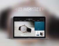 Boutique Les Montres - Webdesign ecommerce