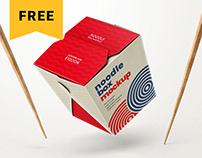 Free Noodle Box Mockup Set | Asian Food
