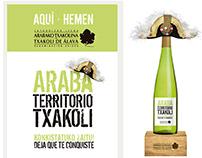 Araba Territorio Txakoli. Campaña publicitaria