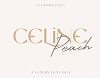 FREE | Celine Peach Luxury Font Duo