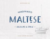 Maltese Watercolor Font
