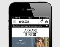 Armani Junior - Landing Page