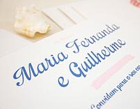 Convite de Casamento - Maria Fernanda & Guilherme