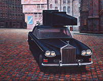 Paintings with cars (oil/canvas)