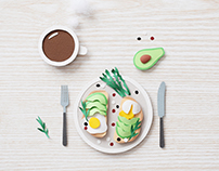 Breakfast | Paper art