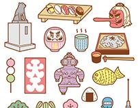 JPN sticker sheet