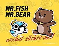 MrBear MrFish stickers vol.1