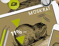Muskrat Cabernet (Branding & Identity)