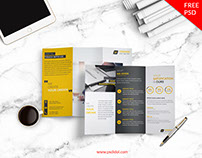 Freebies | Creative Corporate Trifold Brochure Free PSD