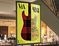SERIES OF POSTERS & MAILER- V&A Its Only Rock & Roll