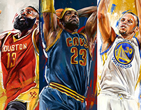 2015 NBA Playoff Player Illustrations