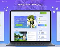 MineCraft Project Template #PSD #LandingPage #game