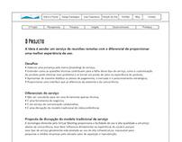 Wireframe da página de Design Estratégico da Prisma