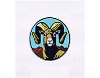 ARTISTIC RAM BIGHORN SHEEP EMBROIDERY DESIGN