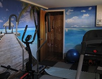 Fitness room interior design