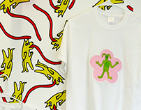 T shirts embroidery and Surface design project