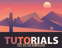 Gradient Desert Landscape Free Download