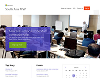 Microsoft South Asia MVP website design