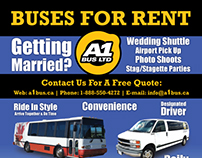 A1 Bus Services Wedding Poster