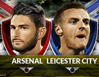 Sports Banner (Arsenal VS Leicester)