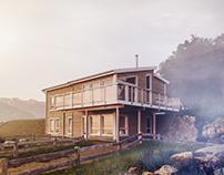 Misty Scandinavian Cottage
