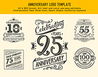 Anniversary Logo Template