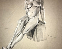FIGURE IN CHARCOAL