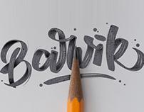 Barvik lettering