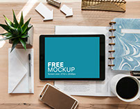 iPad Pro Mockup on Creative Desk