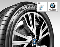 BMW i8 Bridgestone Wheel - Fan Art 3D Model