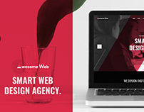 UI Web Template Design for Web Design Agency
