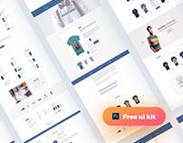 Freebie Creative Multipurpose E-commerce PSD Template