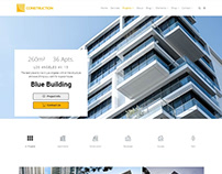 Construction WordPress theme - Projects Slider Page