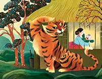 "Storytime Magazine ""Terrible Tiger"" illustrations"