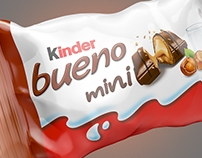 Kinder mini packaging. 3d render.